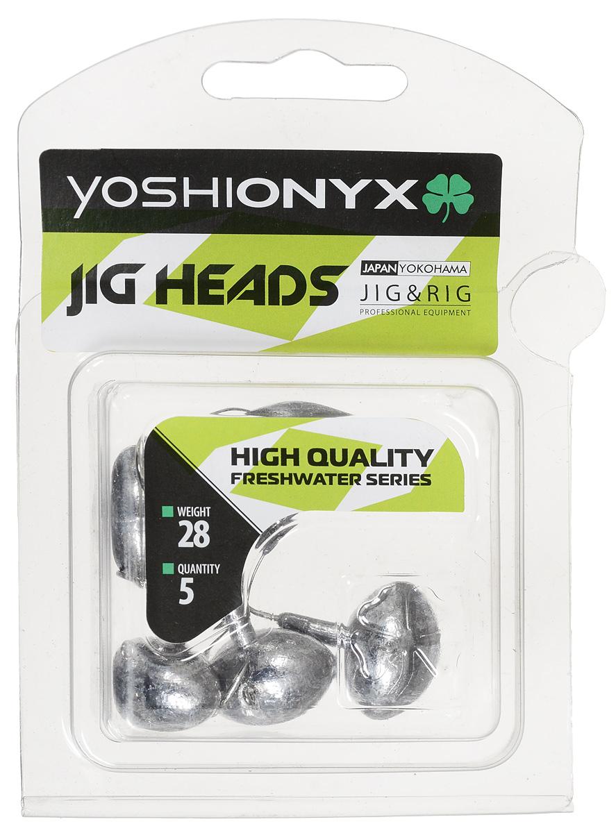 Джиг-головка Yoshi Onyx JIG Bros. Футбольный мяч, крючок Gamakatsu, 28 г, 5 шт