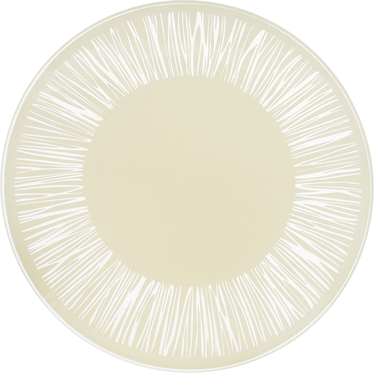 "Тарелка NiNaGlass ""Витас"", цвет: светло-бежевый, диаметр 20 см"