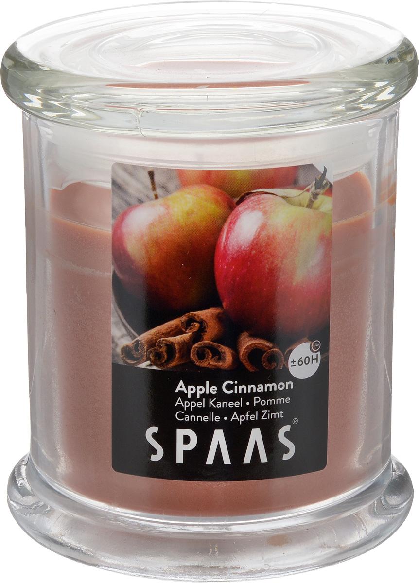 Свеча ароматизированная Spaas Арома премиум. Яблоко с корицей, высота 11 см свеча ароматизированная spaas антитабак с крышкой 29 ч