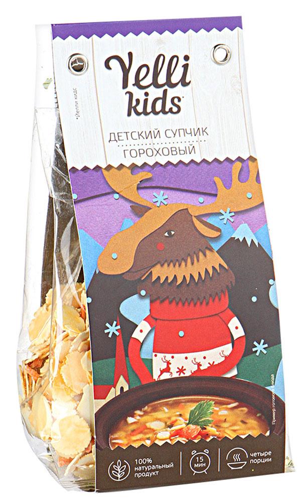 Yelli Kids детский супчик Гороховый, 100 г yelli суп yelli чечевичный масурдал 250г