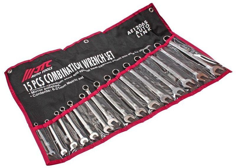 Набор комбинированных ключей JTC, 15 предметов. JTC-AE1206S