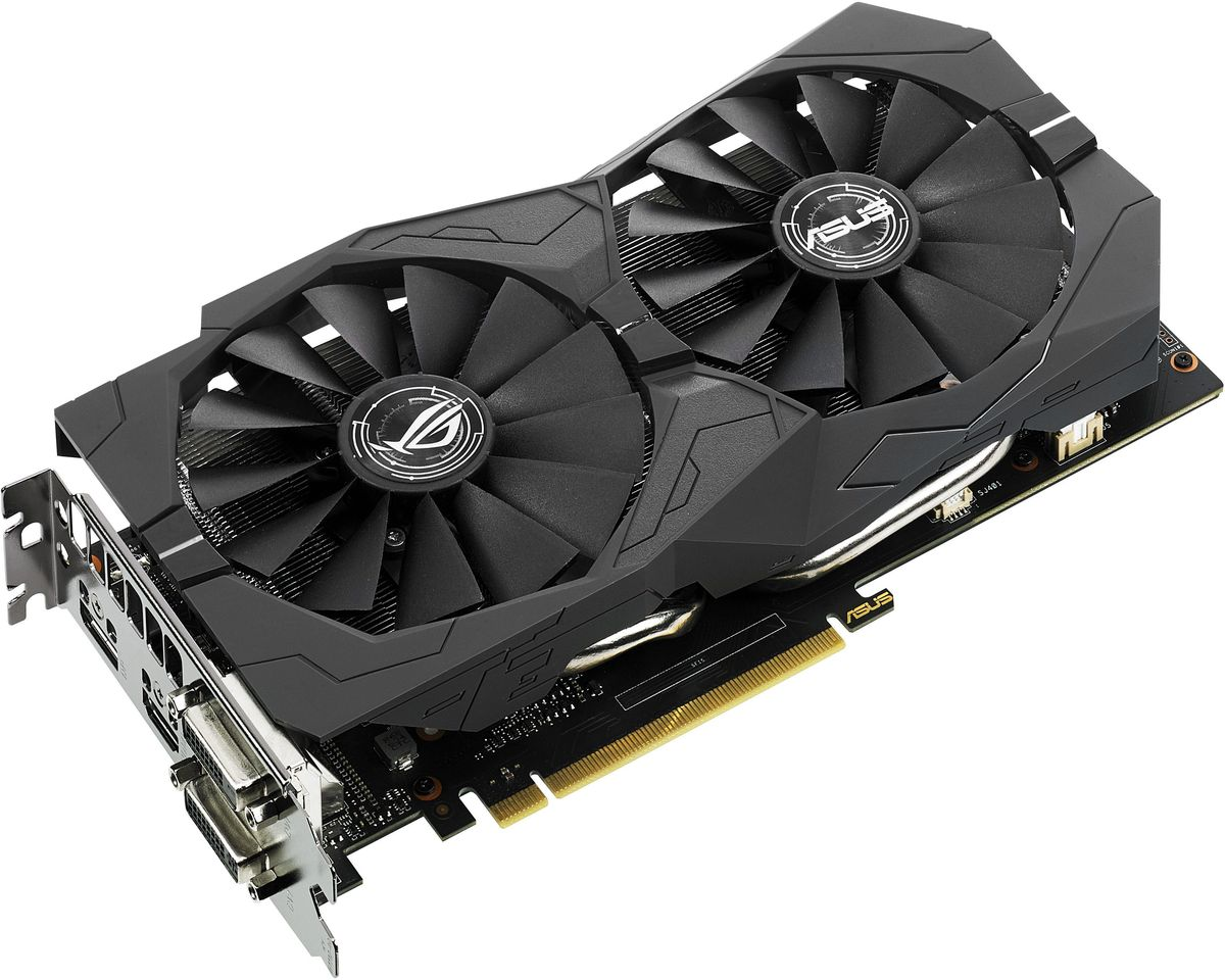 Видеокарта ASUS ROG Strix GeForce GTX 1050 Ti OC 4GB, STRIX-GTX1050TI-O4G-GAMING