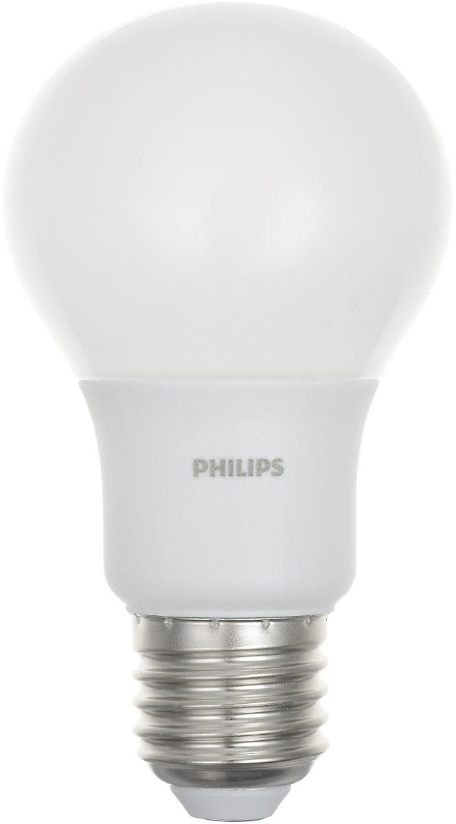 """Лампа светодиодная Philips """"LEDBulb"""", E27, 6-50W, 3000K"""