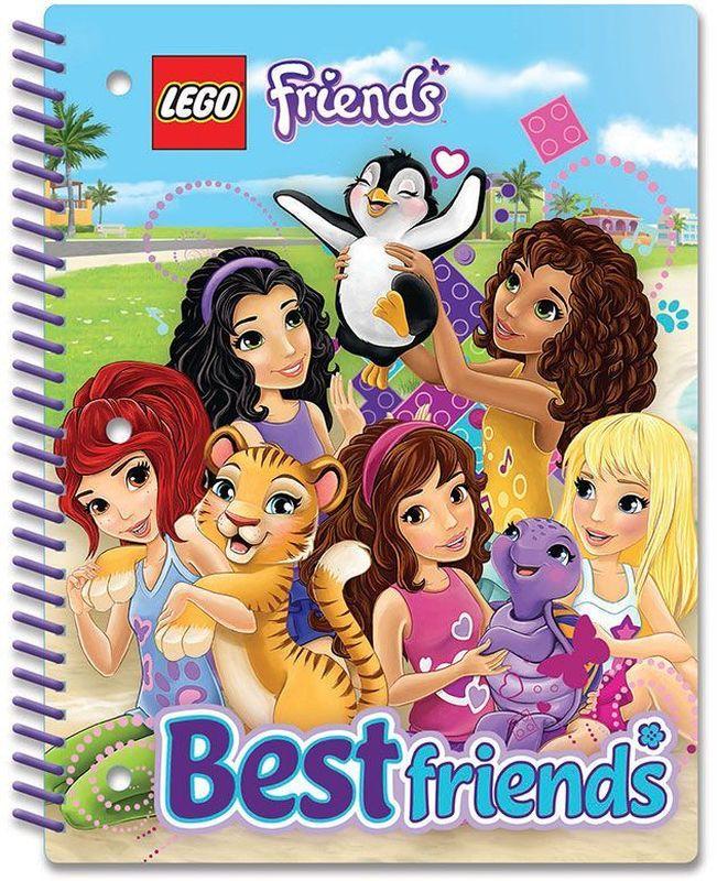 LEGO Friends Тетрадь на спирали 70 листов в линейку 5160340А4Всп_09736, любимцыТетрадь на спирали LEGO Friends в линейку предназначена для школьных занятий и просто для записей. Стильный дизайн обложки, сочетающий различные цвета и изображения любимых персонажей делает тетрадь подходящей для учениц начальной и средней школы. Плотная обложка из высококачественного картона не даст помяться страничкам.