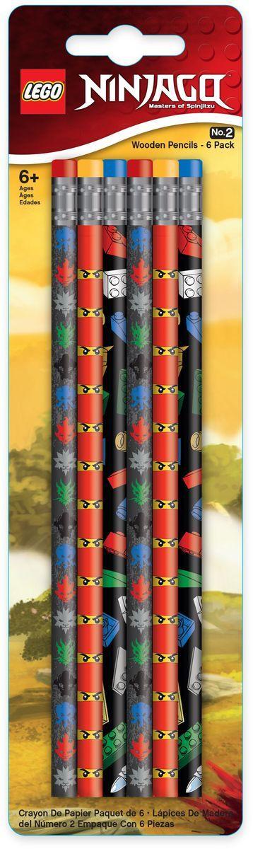 LEGO Набор карандашей Ninjago 6 шт набор vegetation hong