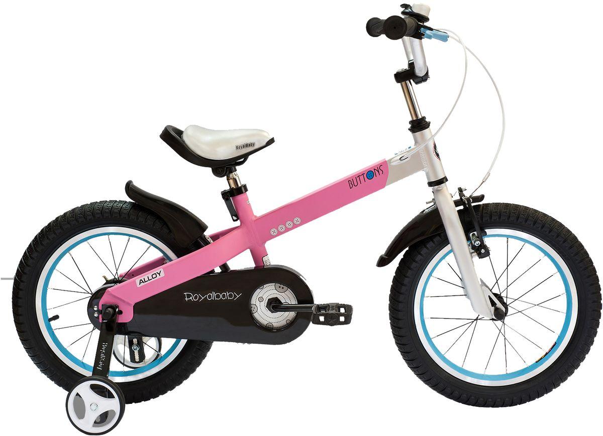 """Велосипед детский Royal Baby """"Buttons Alloy 14"""""""", цвет: розовый"""