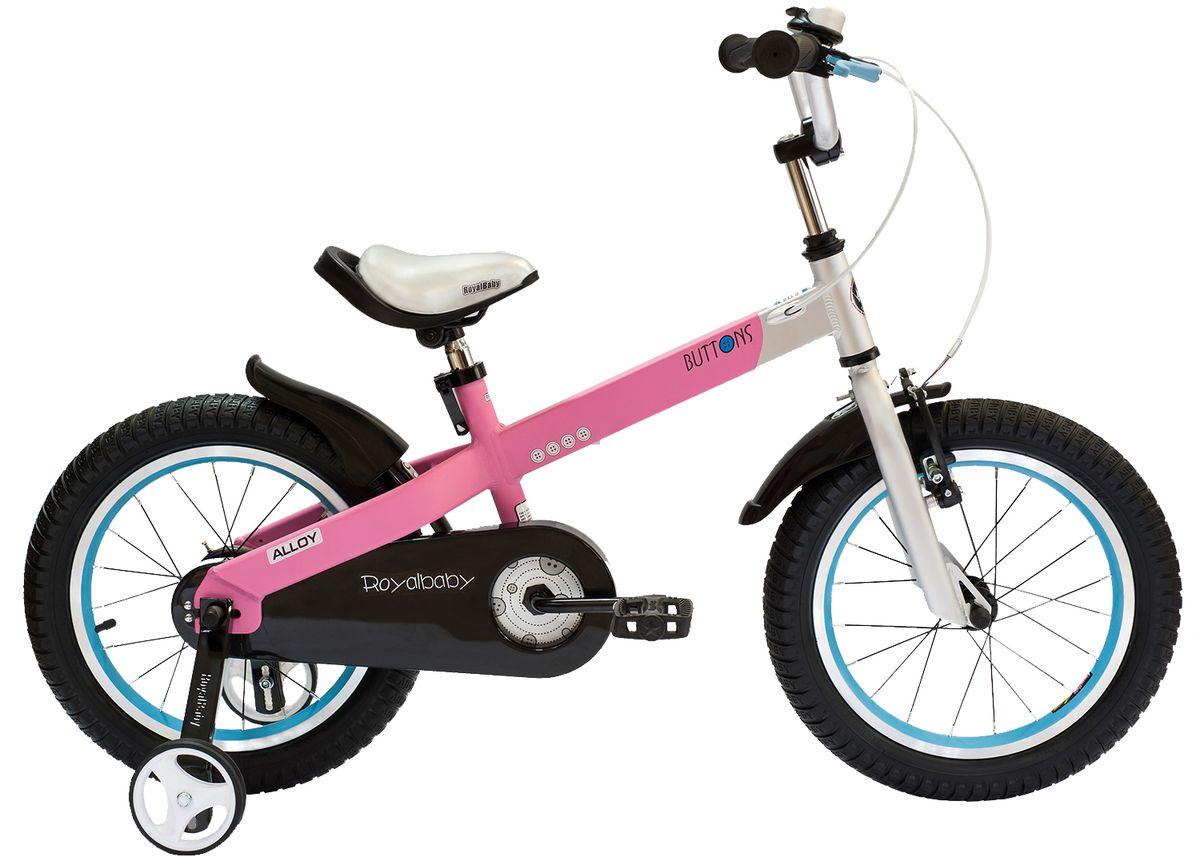 """Велосипед детский Royal Baby """"Buttons Alloy 16"""""""", цвет: розовый"""