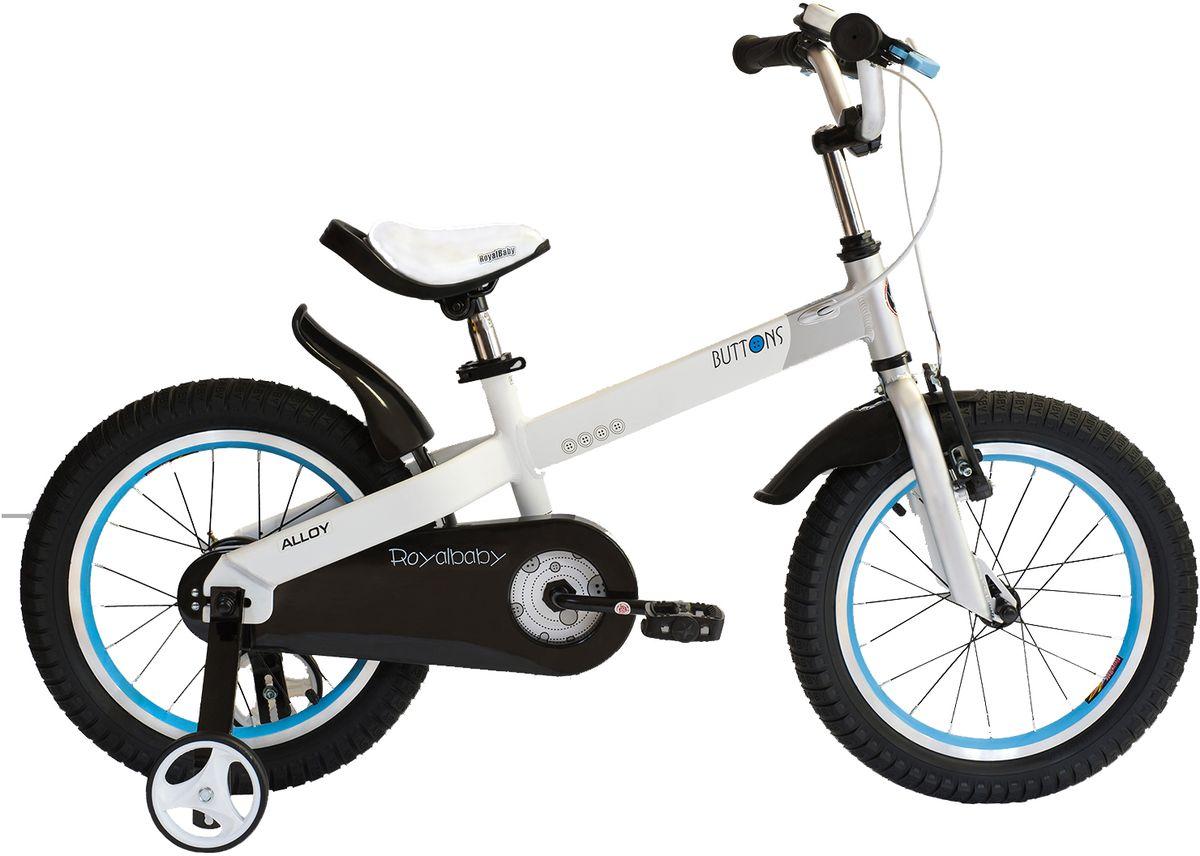 """Велосипед детский Royal Baby """"Buttons Alloy 16"""""""", цвет: белый"""