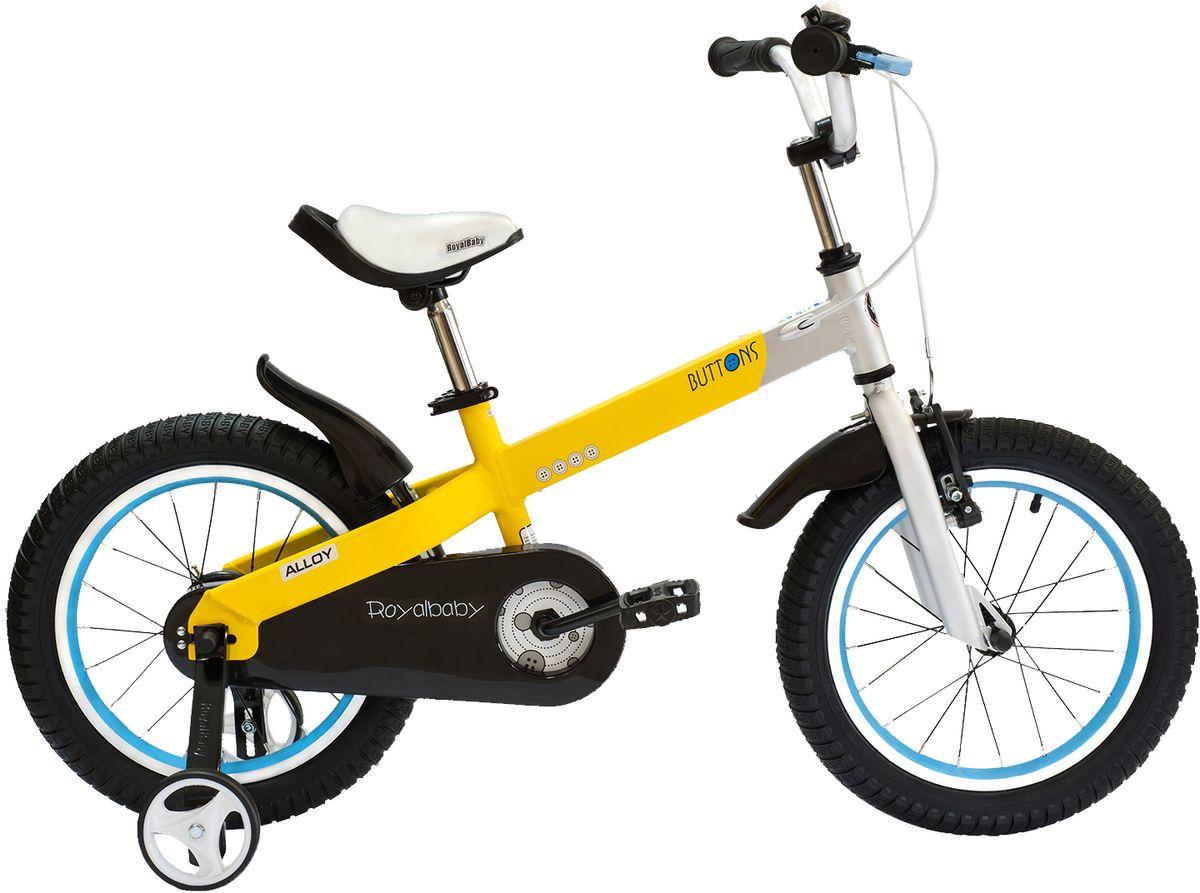 """Велосипед детский Royal Baby """"Buttons Alloy 16"""""""", цвет: желтый"""