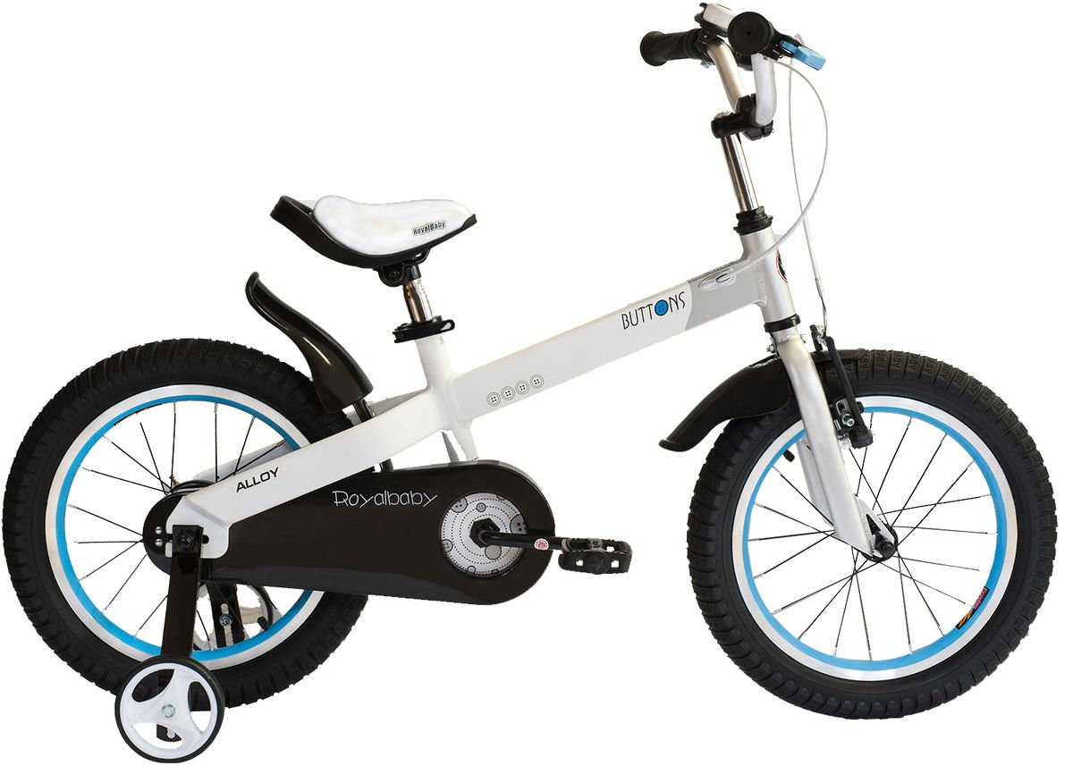 Велосипед детский Royal Baby Buttons Alloy 18, цвет: белый