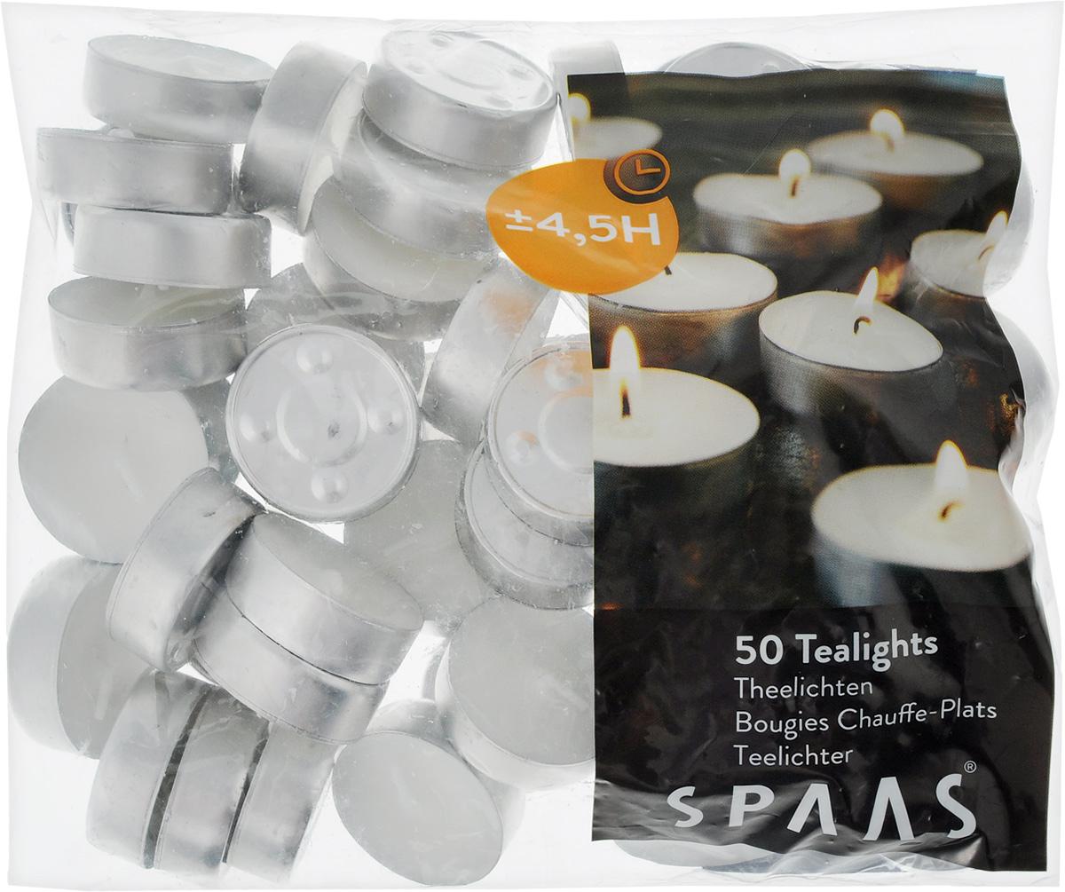Набор свечей Spaas, диаметр 4 см, 50 шт гифтман набор свечей фиалка ароматизированные столбики 4 6см 2 шт время горения 6 ч