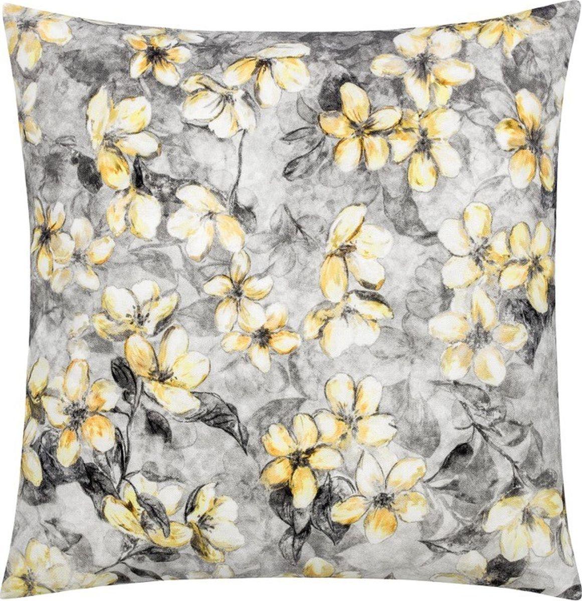 Подушка декоративная Togas Джулия, наполнитель: полиэфир, цвет: серый, желтый, 45 х 45 см подушка декоративная togas джулия наполнитель полиэфир цвет серый желтый 45 х 45 см