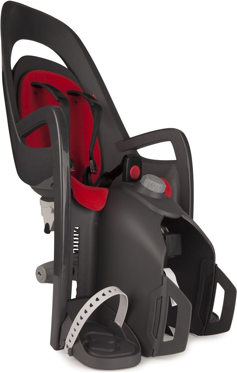 Детское велокресло Hamax Caress W/Carrier Adapter, цвет: серый, красный детское велокресло hamax caress w carrier adapter цвет серый красный