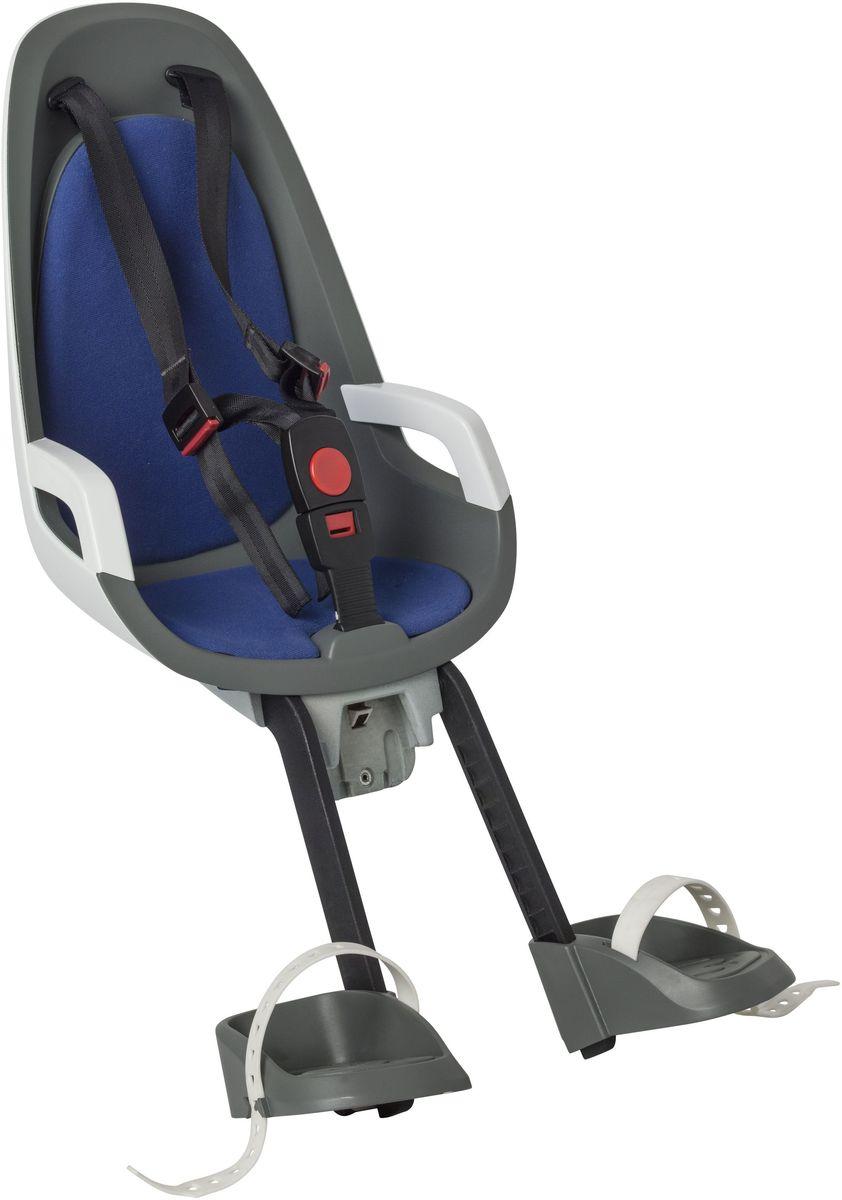 Детское велокресло Hamax Caress Observer, цвет: серый, белый, синий детское велокресло hamax caress w carrier adapter цвет серый красный