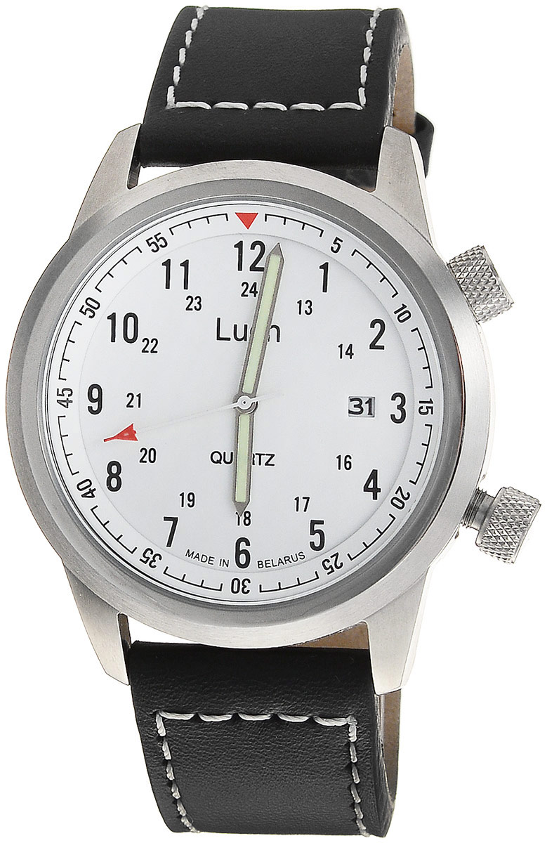 лучшая цена Наручные часы мужские Луч, цвет: белый, черный, красный, зеленый. 729080262