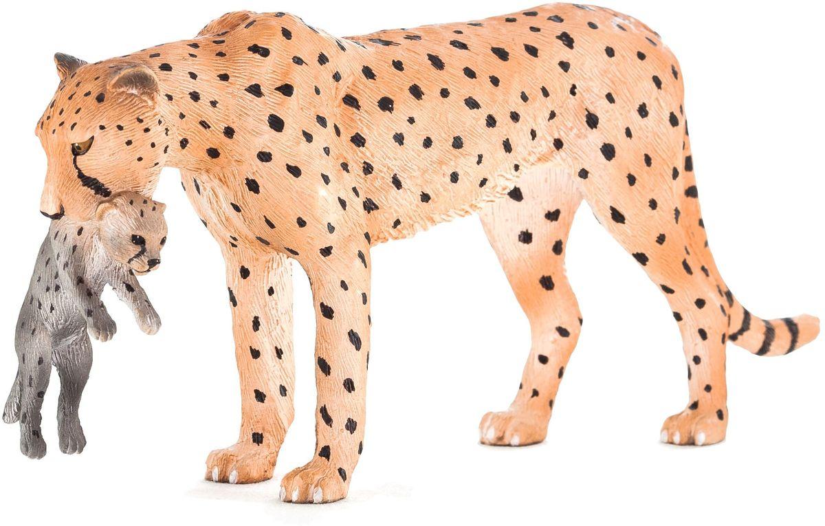 Mojo Фигурка Гепард с детенышом в пасти mojo фигурка гепард с детенышом в пасти