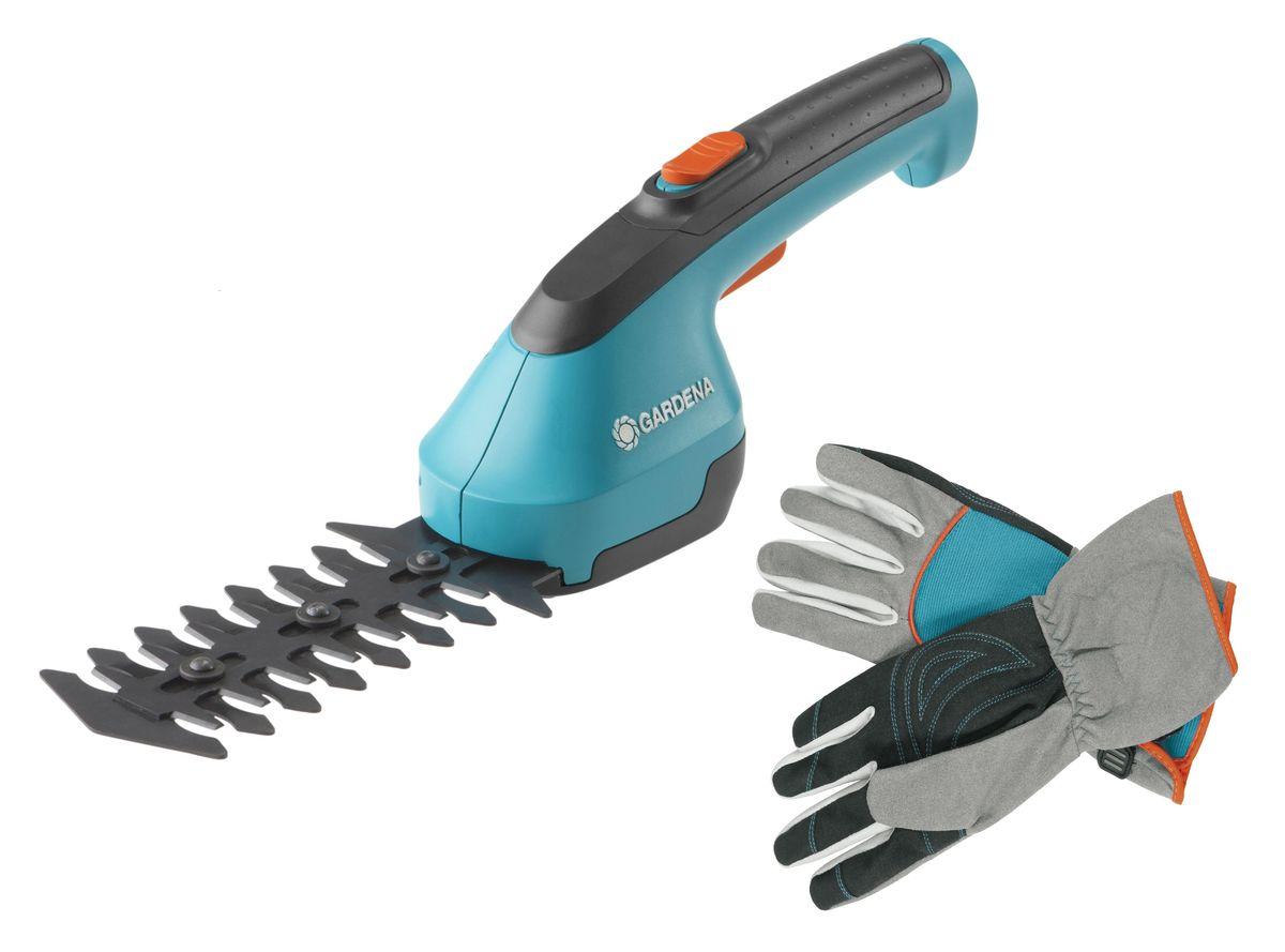 цена на Ножницы для кустарников Gardena AccuCut, аккумуляторные + Перчатки Gardena для ухода за кустарниками. Размер 9. 07730-20.000.00