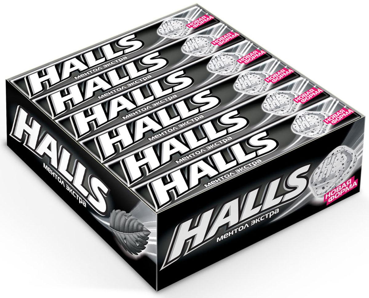 Halls Ментол экстра леденцы, 12 пачек по 24,5 г