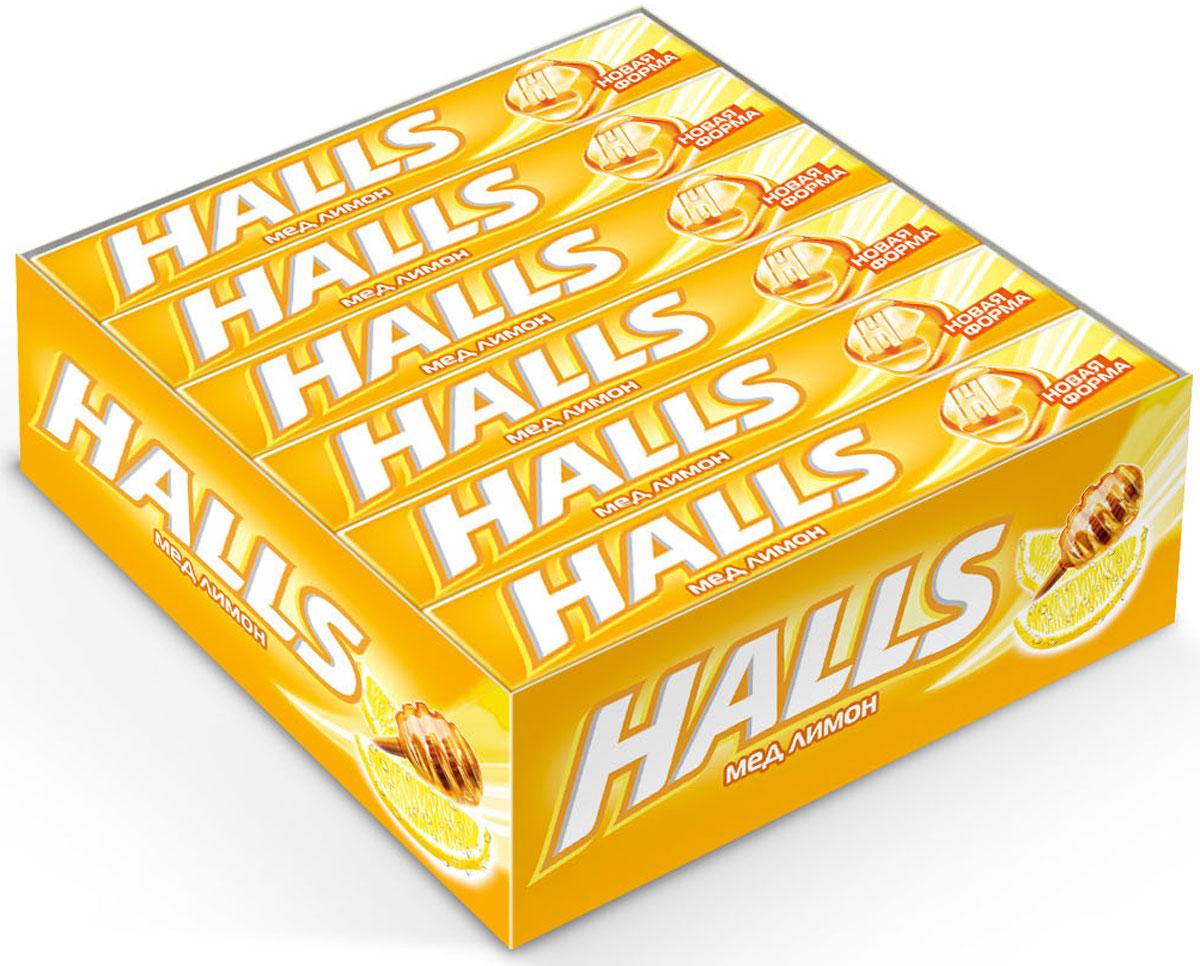 цены на Halls Мед Лимон леденцы, 12 пачек по 25 г  в интернет-магазинах