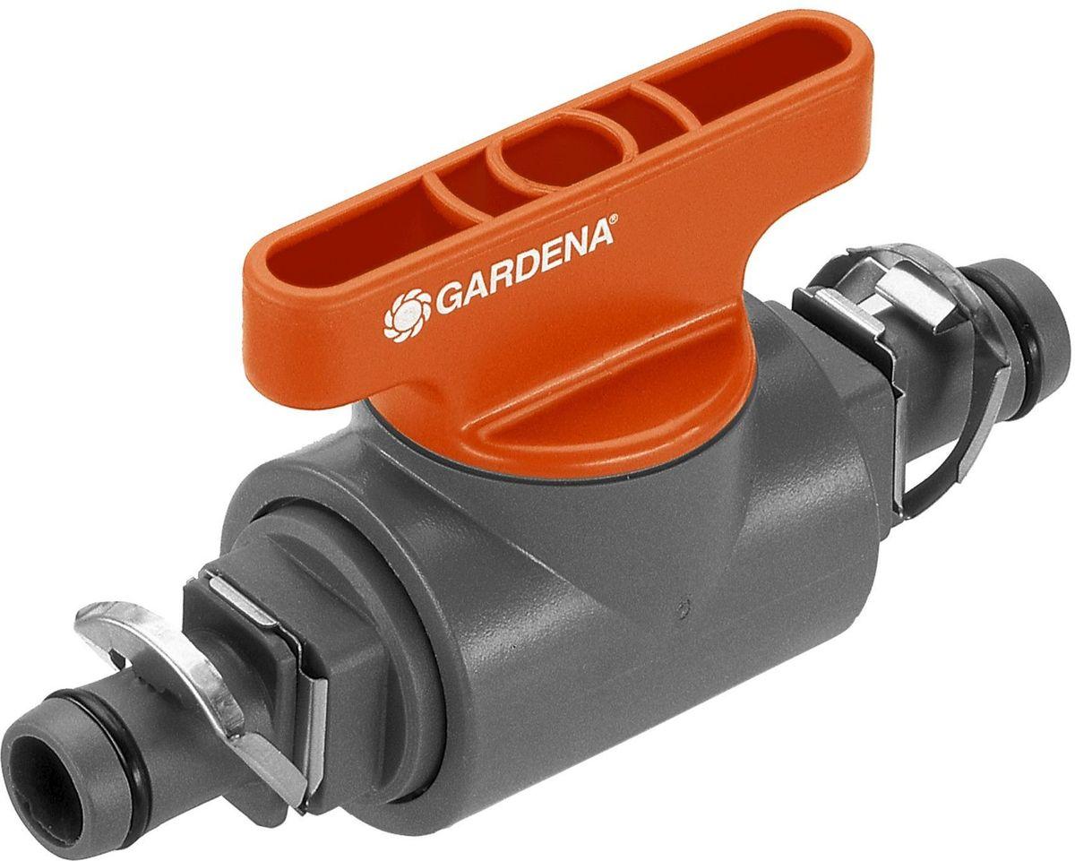 Кран запорный Gardena, резьба 13 мм (1/2) кран запорный gardena наружная резьба 3 4