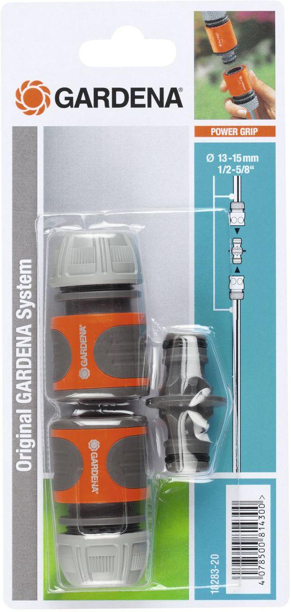 Коннектор Gardena, с переходником, 2 шт guide gardena 13 mm 1 2 home