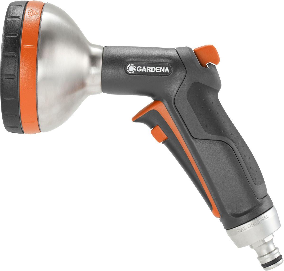 Фото - Пистолет-распылитель для полива Gardena Premium, многофункциональный пистолет распылитель для полива gardena comfort frost proof многофункциональный