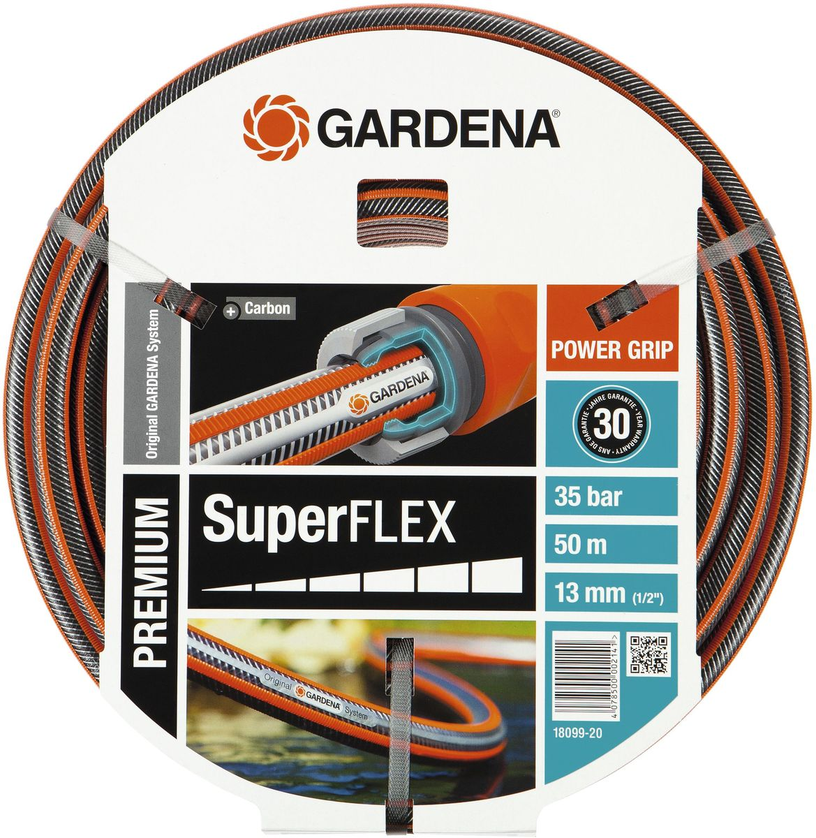 Шланг Gardena Superflex, диаметр 13 мм (1/2), длина 50 м шланг gardena superflex