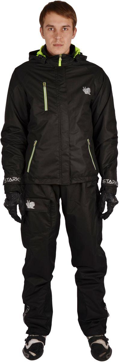 """Куртка дождевая Starks """"Dry Rain"""", мужская, цвет: черный. ЛЦ0049. Размер XXL"""