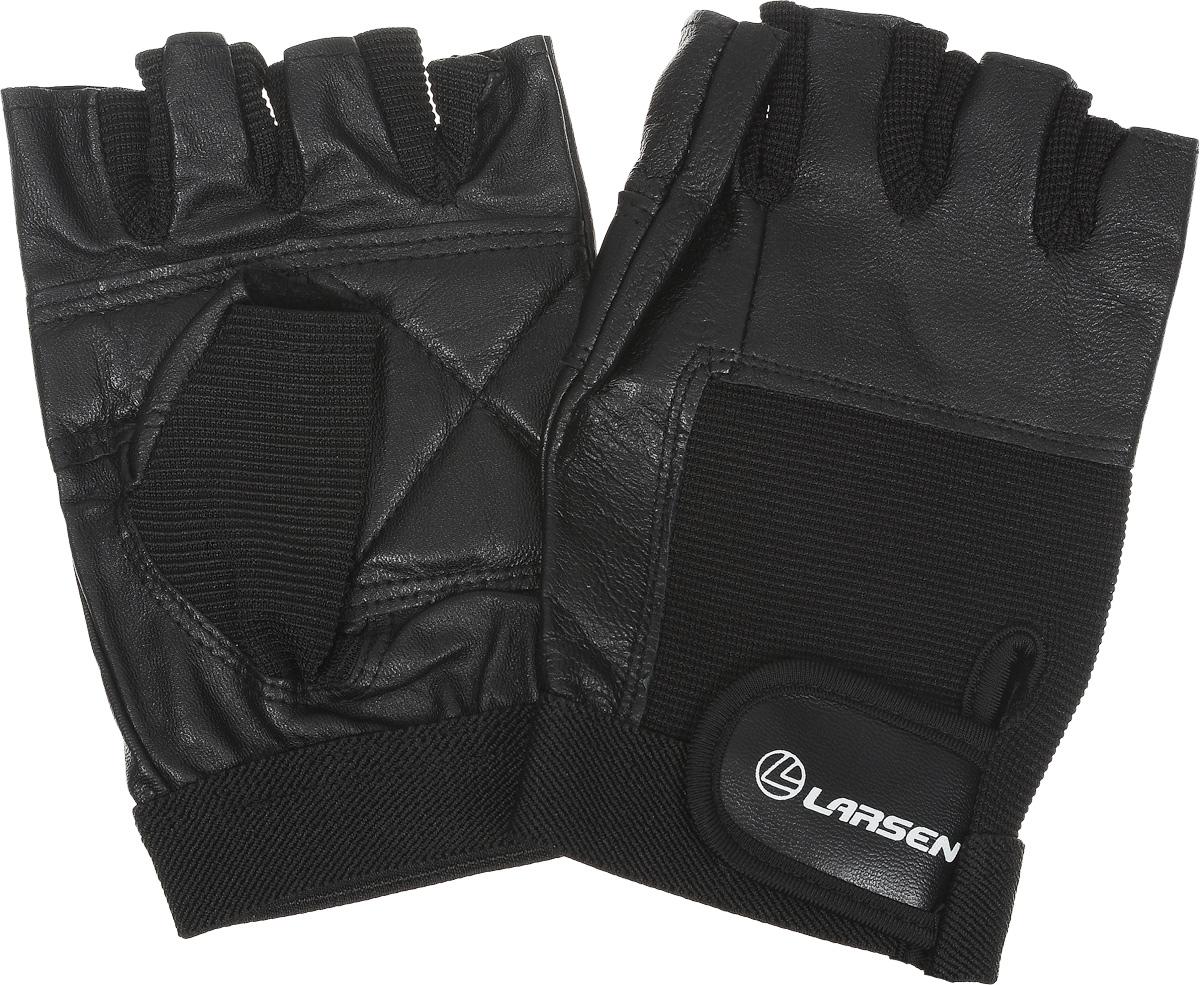 """Перчатки для фитнеса Larsen """"NT506"""", цвет: черный. Размер XL"""