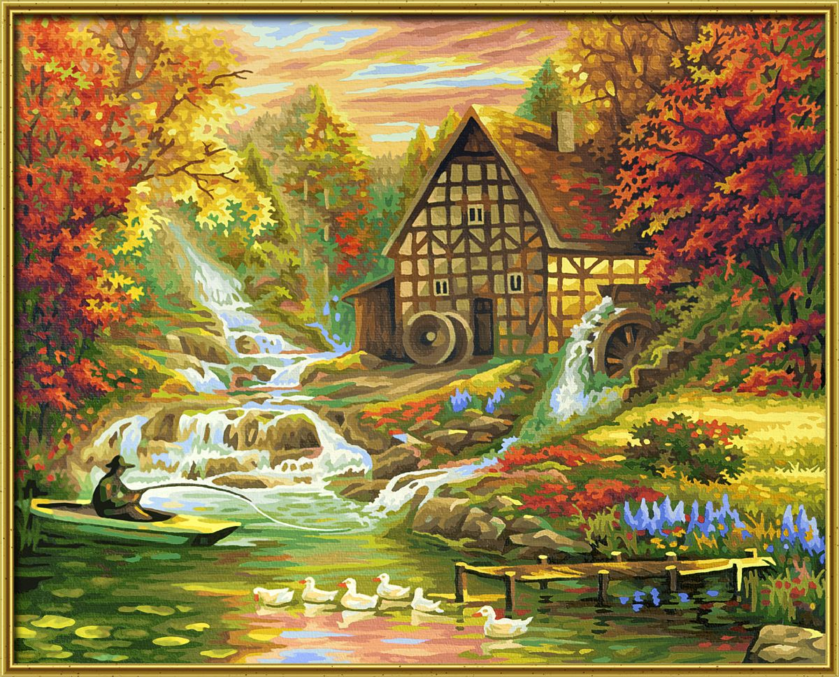 Набор для рисования по номерам Schipper Осень, 40 х 50 см schipper картина триптих по номерам schipper осень 50х80 см