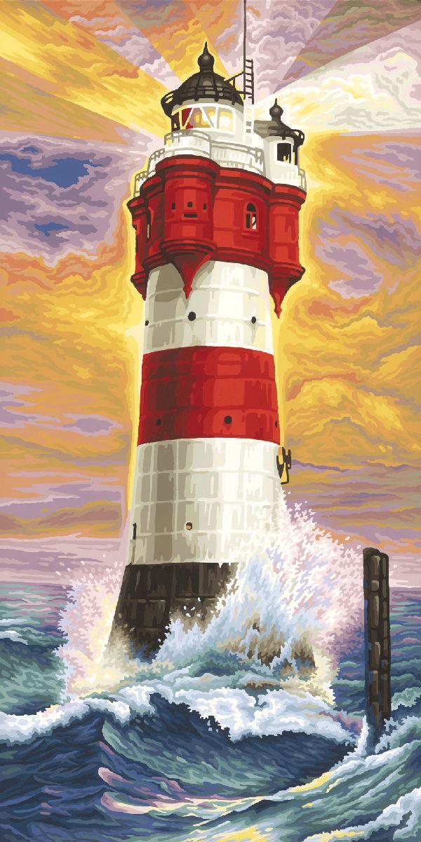 Набор для рисования по номерам Schipper Маяк, 40 х 80 см раскраска по номерам schipper романтическая зимняя ночь 40х50см 9130630