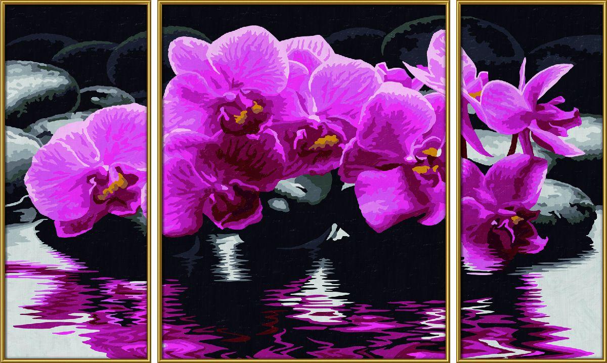 Набор для рисования по номерам Schipper Орхидеи, триптих, 50 х 80 см schipper картина триптих по номерам schipper орхидеи 50х80 см