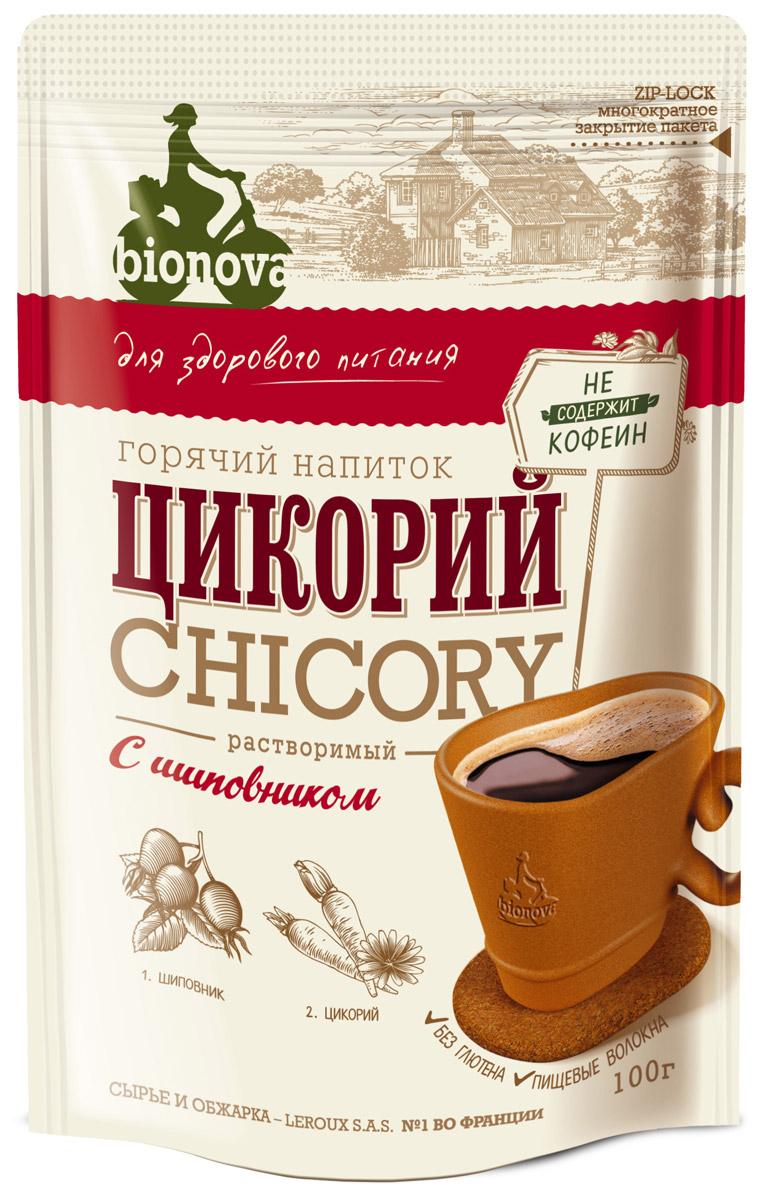 Bionova напиток из цикория с шиповником, 100 г недорого