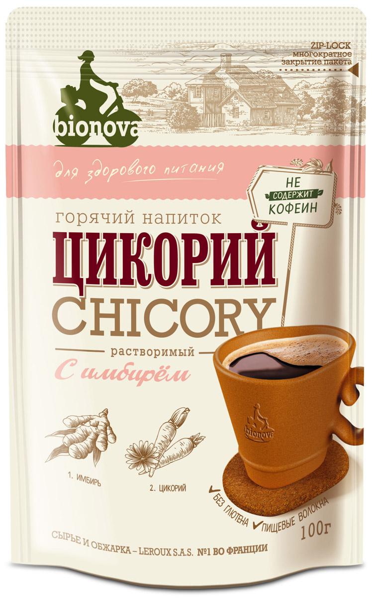 Bionova напиток из цикория с имбирем, 100 г недорого