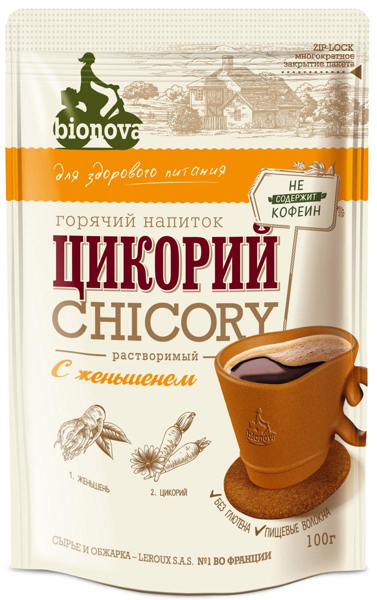 Bionova напиток из цикория с женьшенем, 100 г недорого
