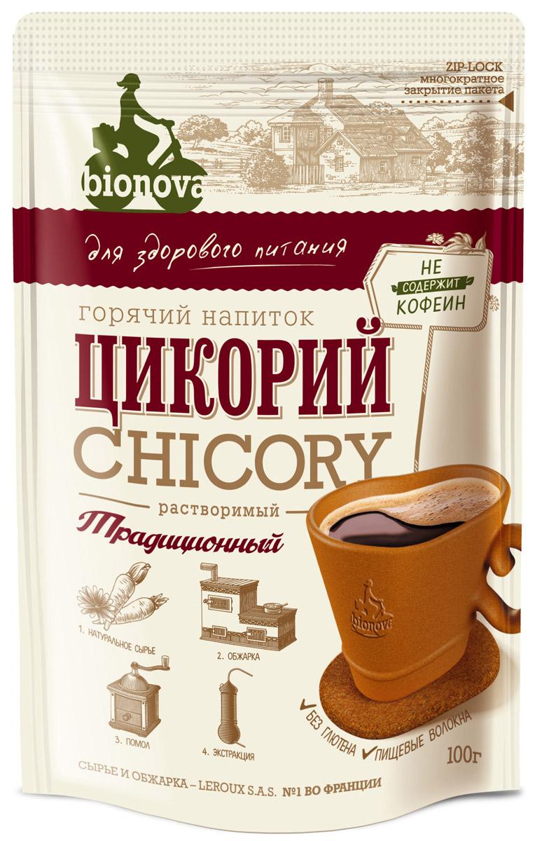 Bionova напиток из цикория традиционный, 100 г недорого