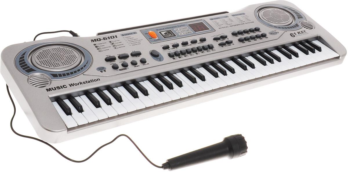 MQ Синтезатор с микрофоном potex синтезатор с микрофоном 54 key адаптер