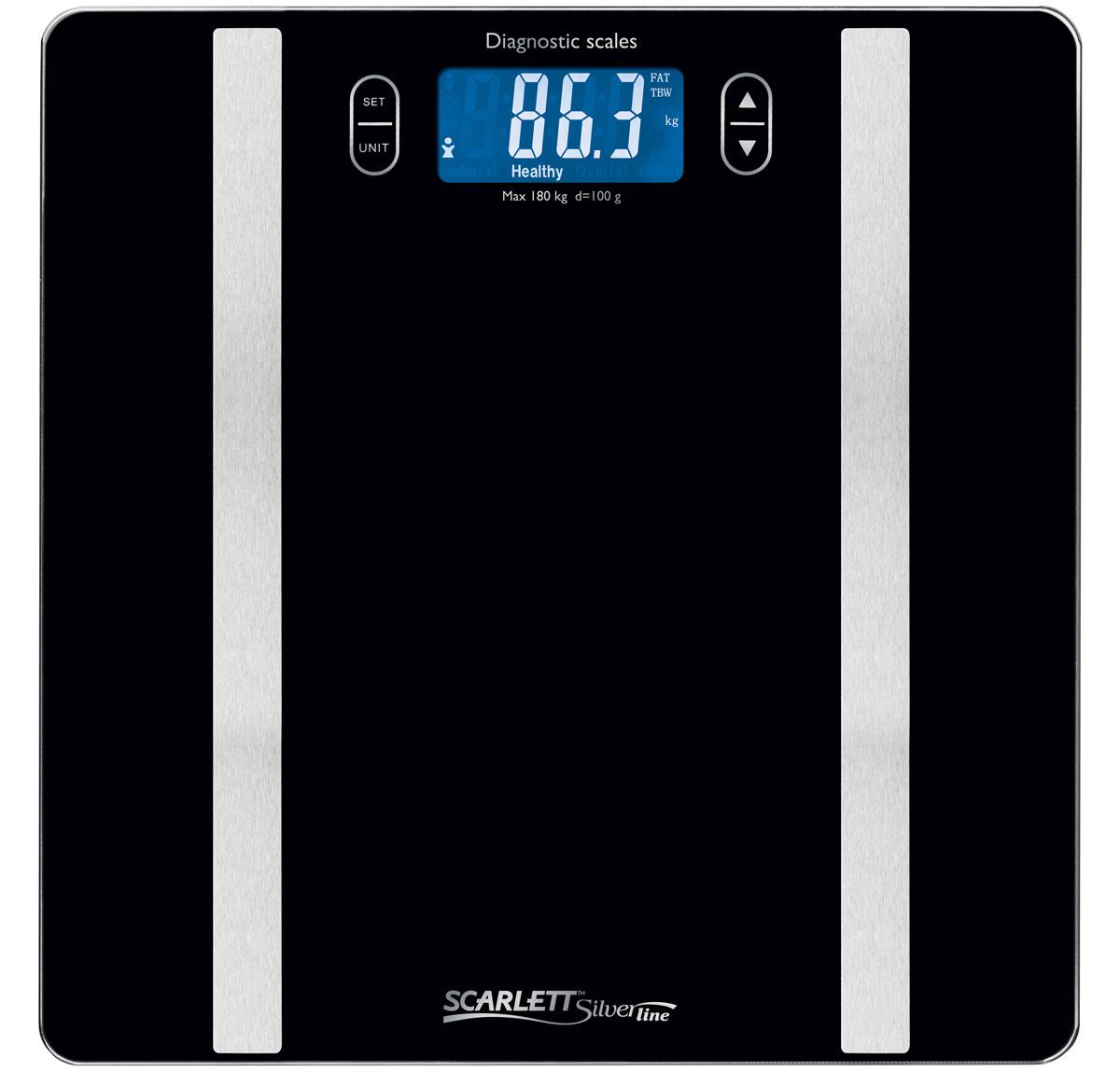 Напольные весы Scarlett SL-BS34ED42, Black