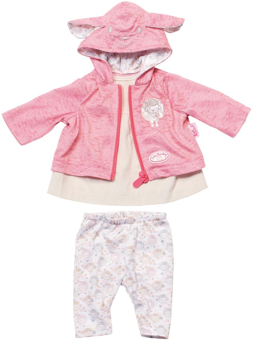 Baby Annabell Одежда для кукол цвет молочный розовый комплект одежды для девочки осьминожка дружба цвет молочный розовый т 3122в размер 56