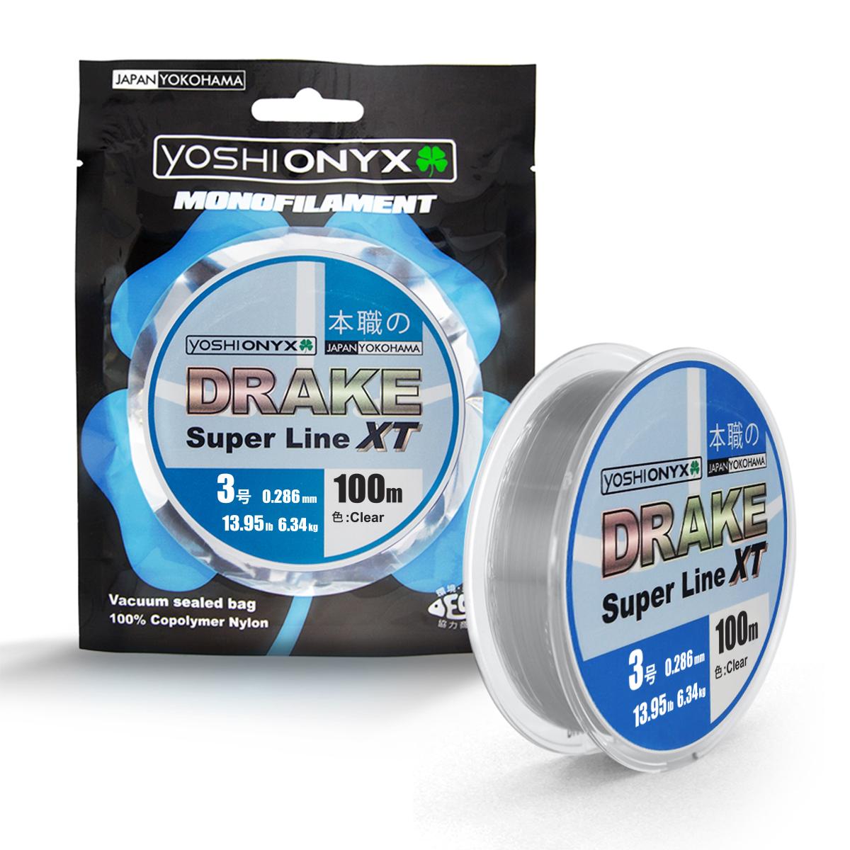 Леска Yoshi Onyx Drake Superline XT, цвет: прозрачный, 100 м, 0,286 мм, 6,34 кг леска yoshi onyx drake fluoro цвет прозрачный 100 м 0 21 мм 3 08 кг