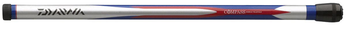 Удилище Daiwa Compass Mobile Telepole, 66104, серый, синий, красный, 4 м удилище спиннинговое daiwa sweepfire sw902mlfs
