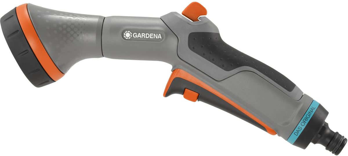 Фото - Пистолет-распылитель для полива Gardena Comfort, многофункциональный пистолет распылитель для полива gardena comfort frost proof многофункциональный