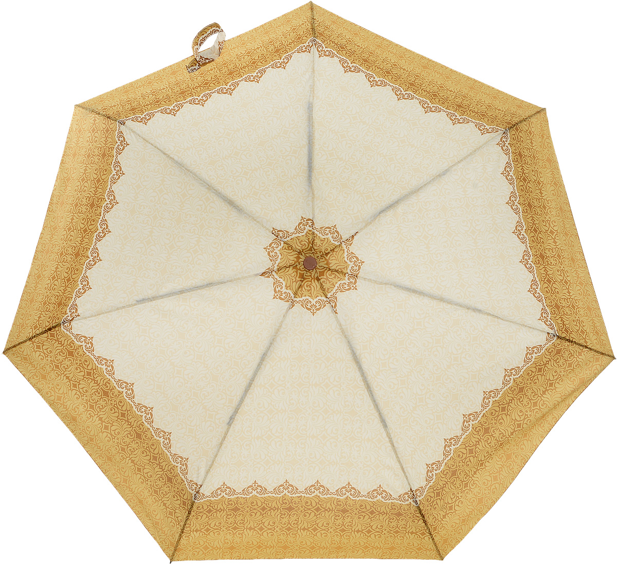 Зонт женский Airton, автомат, 3 сложения, цвет: бежевый. 4918-150 зонт airton 3917 8028 полный автомат женский