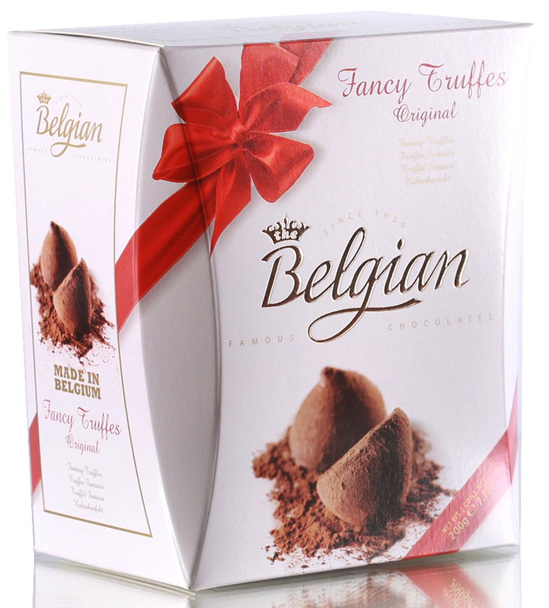 The Belgian Трюфели в какао пудре оригинальные, 200 г the belgian трюфели с кусочками апельсинов 200 г