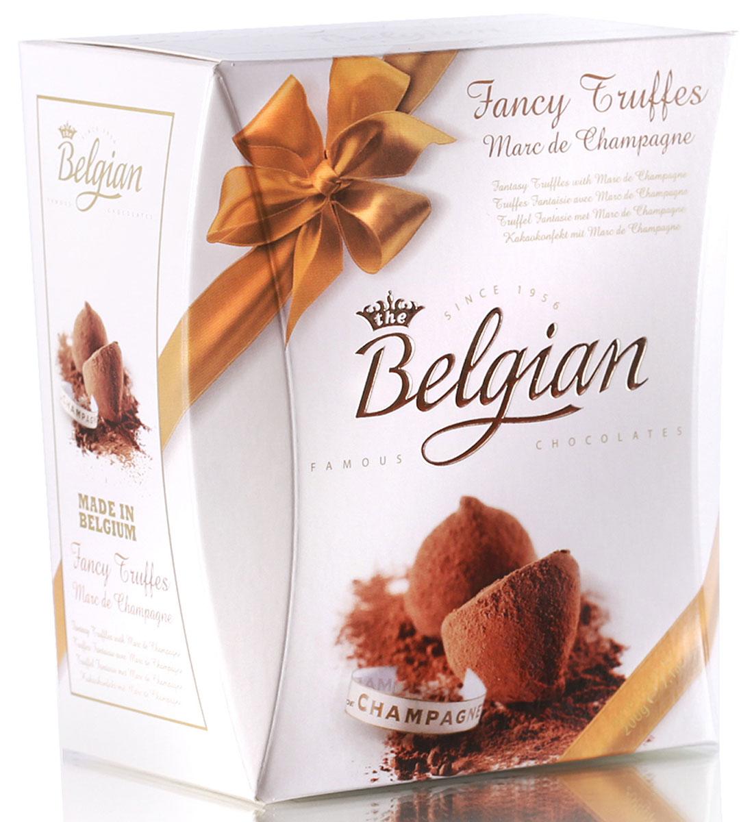 The Belgian Трюфели с ароматом шампанского, 200 г the belgian трюфели с кусочками апельсинов 200 г