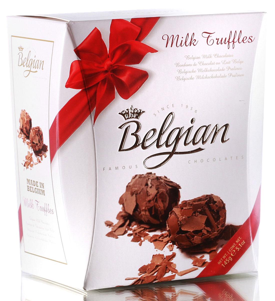 The Belgian Трюфели из молочного шоколада в хлопьях, 145 г4607013791053Трюфели очаровывают прекрасным сочетанием мягкой сливочной начинки с шелковистым вкусом хлопьев из молочного шоколада. Конфетами приятно наслаждаться в сопровождении чашечки чая, кофе или капучино. Они составят хорошую пару с какао или молоком. Трюфели можно предложить к бокалу красного или белого сухого вина, портвейну или к десертному вину.