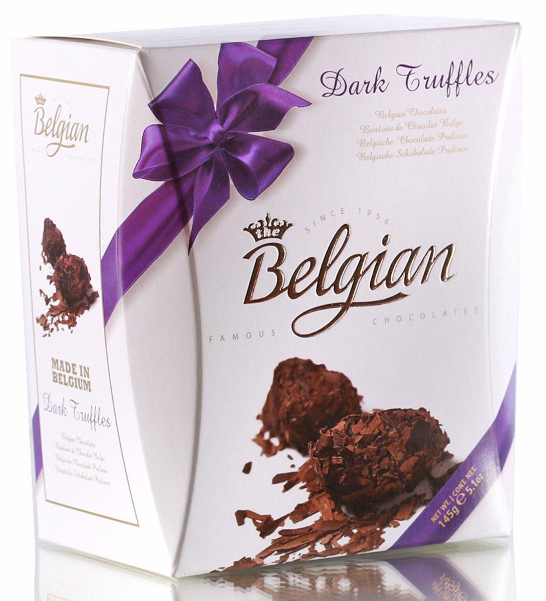 The Belgian Трюфели из горького шоколада в хлопьях, 145 г the belgian трюфели с кусочками апельсинов 200 г