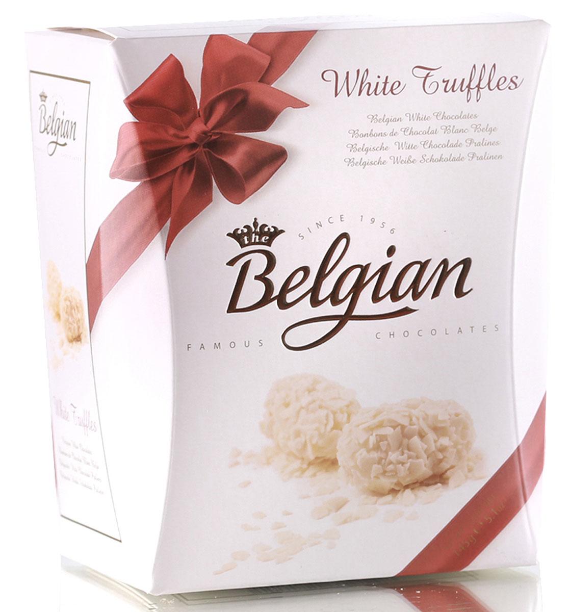 The Belgian Трюфели из белого шоколада в хлопьях, 145 г the belgian трюфели с кусочками апельсинов 200 г