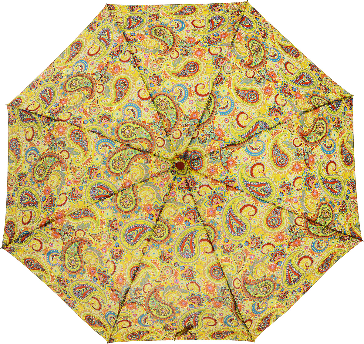 Зонт женский Airton, механический, 3 сложения, цвет: желтый, оранжевый. 3515-124 зонт airton 3515 женский механический