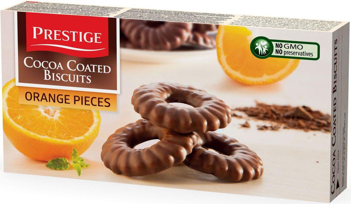 Prestige Печенье с апельсином в какао глазури, 175 г